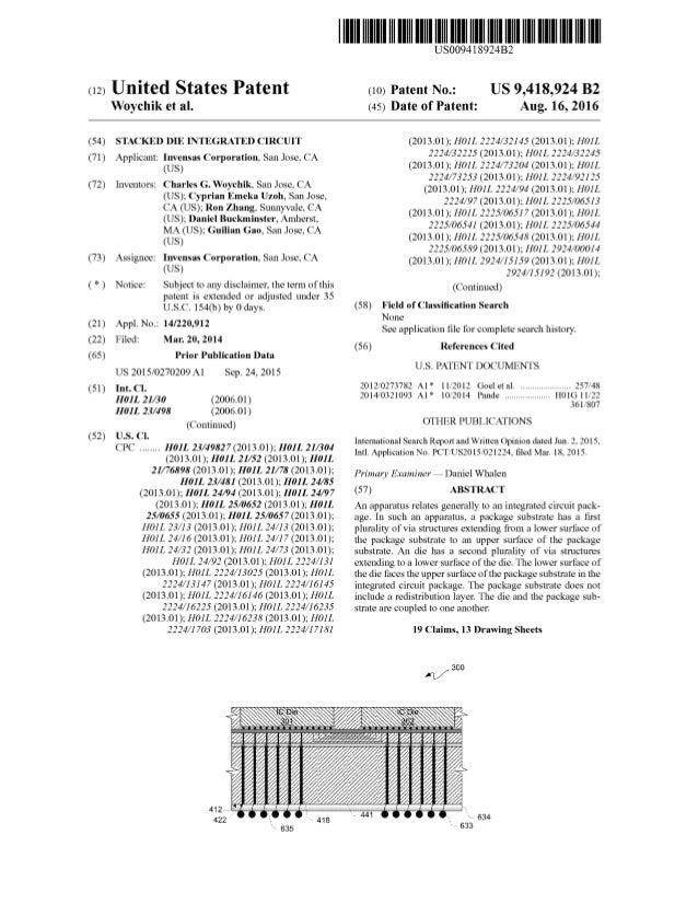 US Patent 9418924