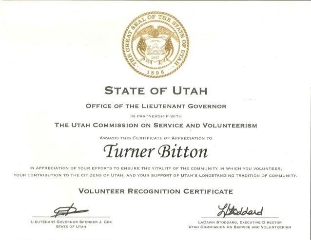volunteer recognition certificate