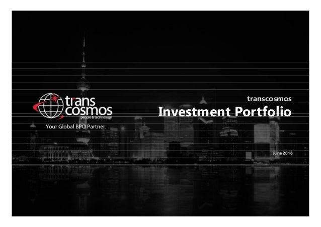 transcosmos Investment Portfolio June 2016