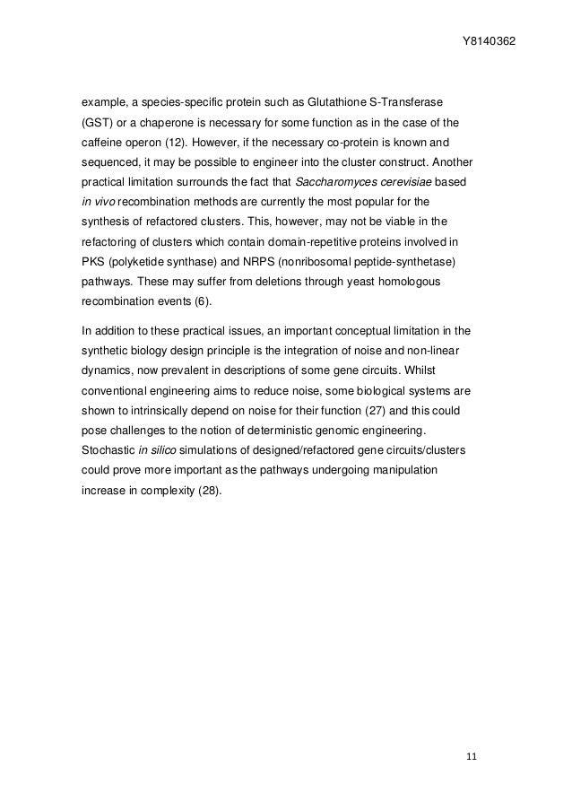 genes synthesis cluster essay Essay rewriter generator - nella digital.