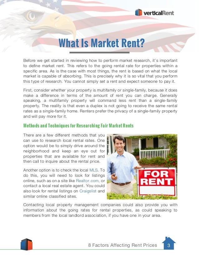 8 Factors Affecting Rent Prices 3 Before we get started in reviewing how to perform market research, it's important to def...