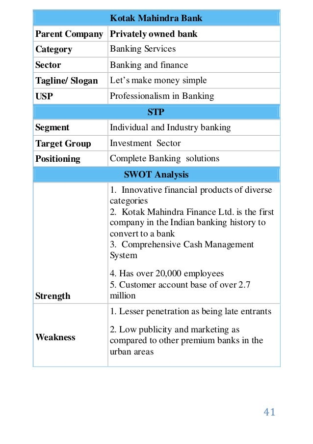 kotak mahindra annual report analysis It is a broadly described annual report of kotak mahindra bank limited in the year of 2015 during the financial year, the bank's total income rs 21,47108 crore.