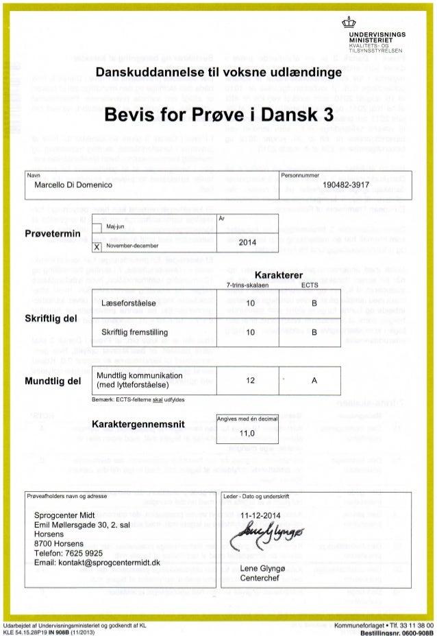 prøve i dansk 2