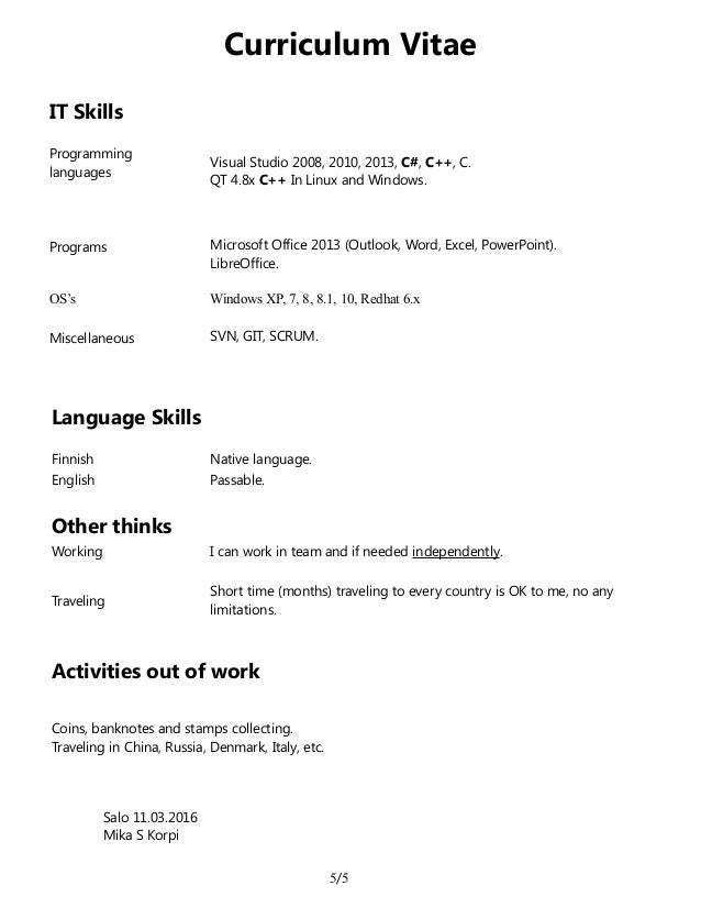 korpi mika curriculum vitae  cv  2016 03 11 en