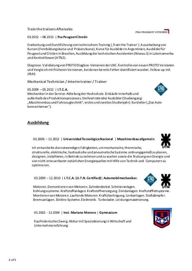 CV Javier Franzoni Deutsch 02.2016 Slide 2