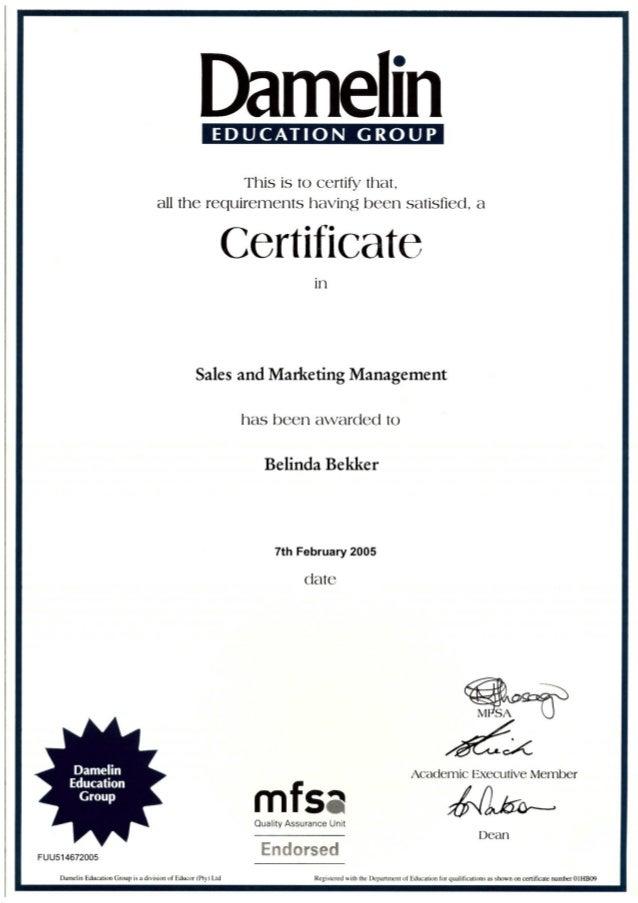 sales management certificate cpsa pdf
