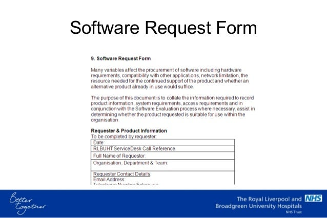 ... Project Mandate Form; 33. Software Request ...