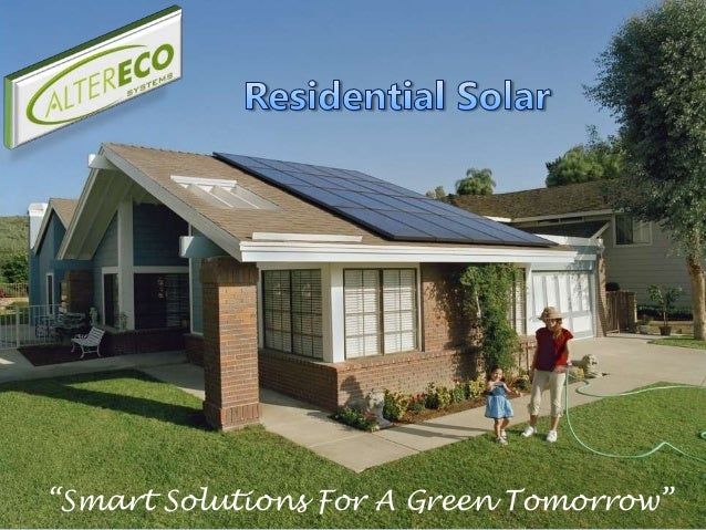 """Smart Solutions For A Green Tomorrow"""