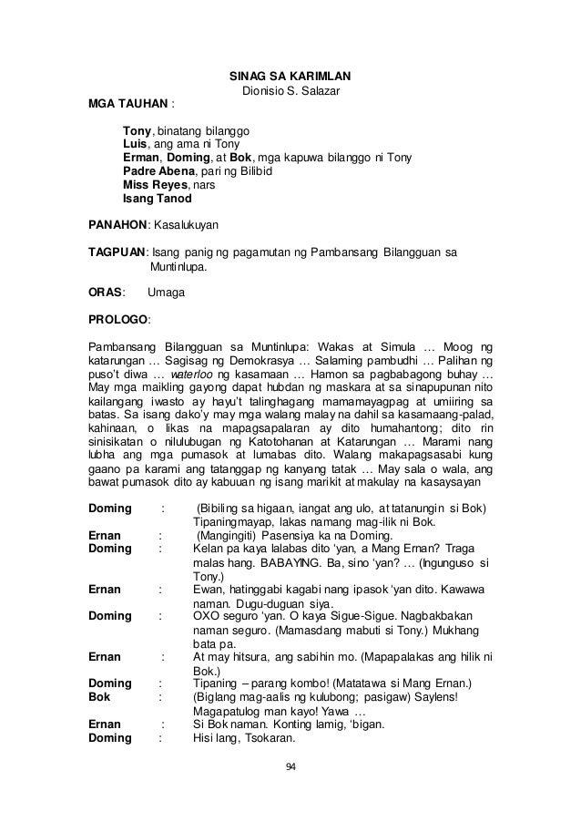 sinag sa karimlan dionisio salazar Here are some questions and answers about buong buod ng sinag sa karimlan ni dionisio salazar.