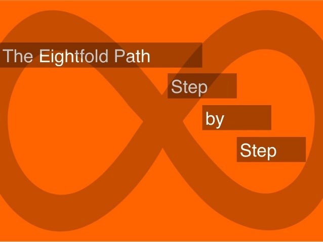 The Eightfold Path is one of the Buddha's teachings. He often taught it as a proposal: test it and see if you find it true.