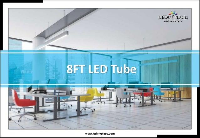 8 Foot Single Pin Led Tube Light Fixture