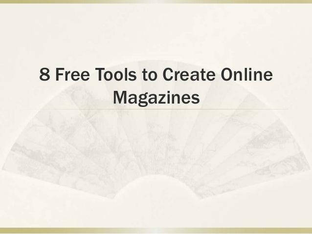 8 Free Tools to Create Online Magazines