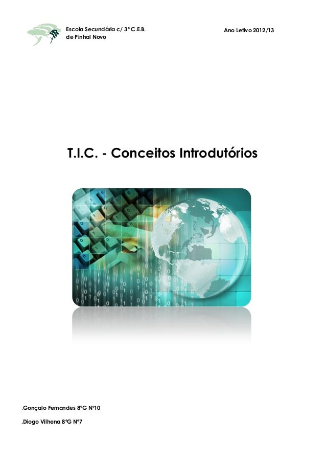 Escola Secundária c/ 3º C.E.B. de Pinhal Novo T.I.C. - Conceitos Introdutórios Ano Letivo 2012/13 .Gonçalo Fernandes 8ºG N...