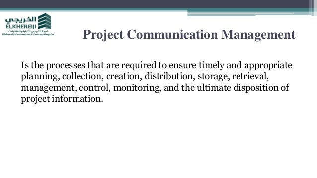 Project communication management