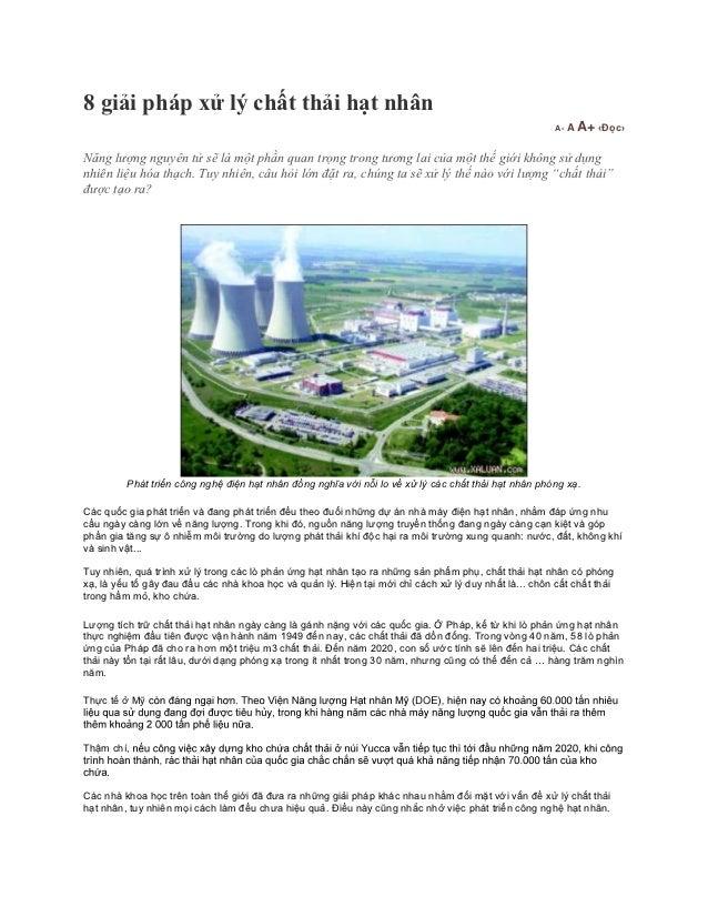 8 giải pháp xử lý chất thải hạt nhân                                                                                      ...