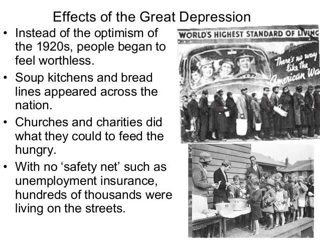 the history of the great depression and its effects The great depression lasted from 1929 to 1939 and was the worst economic depression in the history of the united states economists and historians point to the stock market crash of october 24, 1929, as the start of the downturn but the truth is that many things caused the great depression, not .