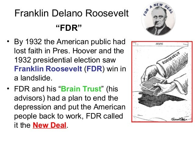 an introduction to the history of franklin delano roosevelt and his new deal The great depression and the new deal john hardman under franklin roosevelt, and his new deal six years from 1933 through 1938 marked a greater upheaval in american institutions than in any similar period in our history'.