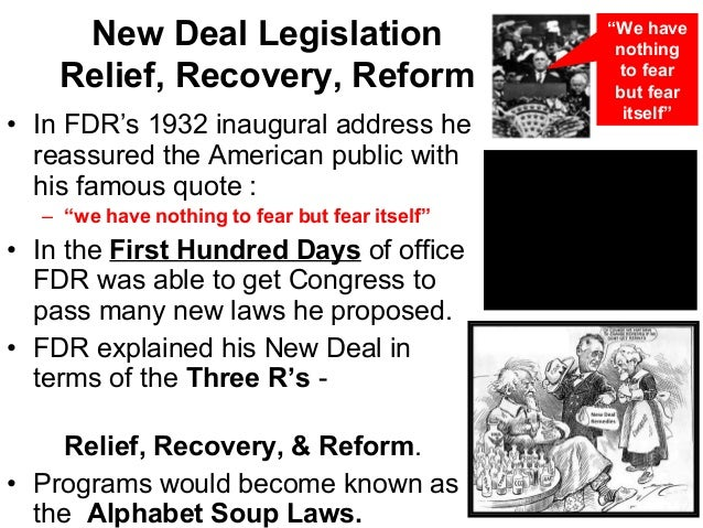 The new deal the depression and