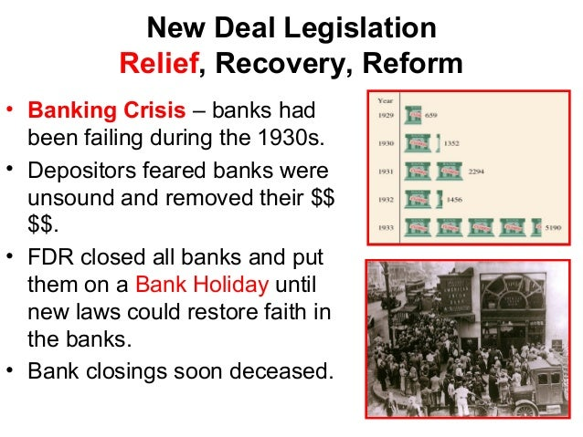 new deal recovery of america during Great depression: american social policy in: during the new deal, public agencies primarily distributed relief funds to the needy this is where the action and the jobs were to be found (as opposed to the recovery of repressed unconscious information) and to issues of separation.