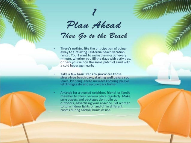 8 great tips for a stress free beach vacation