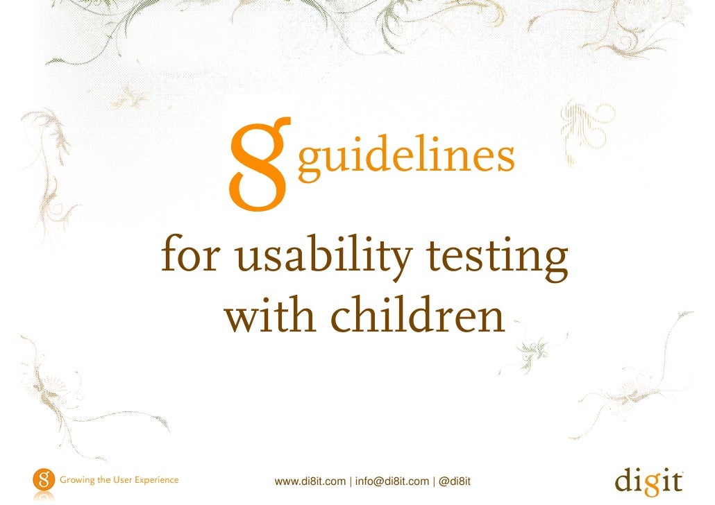 guidelines for usability testing with children                                                      guidelines            ...