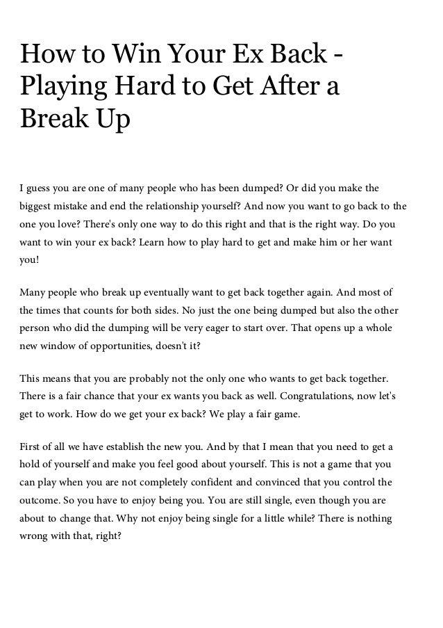 NADINE: Chances of getting back together after a break