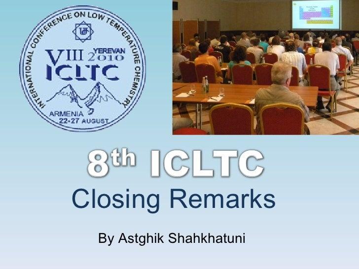 Closing Remarks By Astghik Shahkhatuni