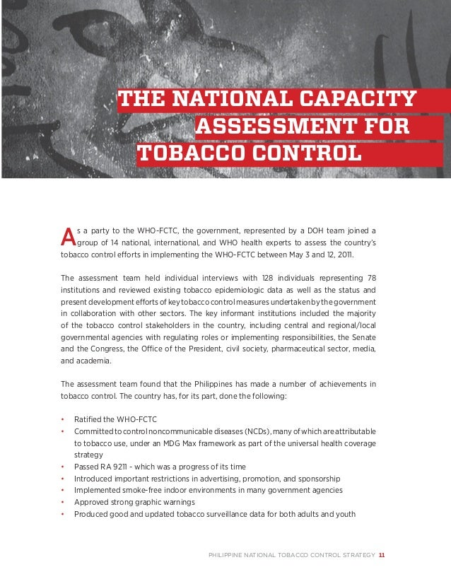 an analysis of the national tobacco strategy Leadership team the board is responsible to shareholders and other stakeholders for the strategy,  international business specialising in tobacco and non.