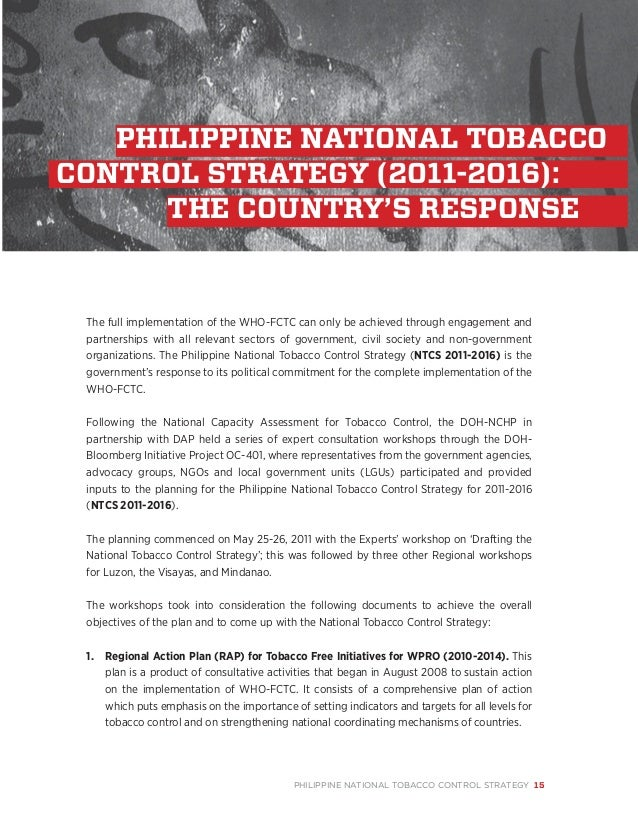 an analysis of the national tobacco strategy Update on performance in tobacco control: a longitudinal analysis of the   and smoking behaviour following enactment of finland's national smoke-free.