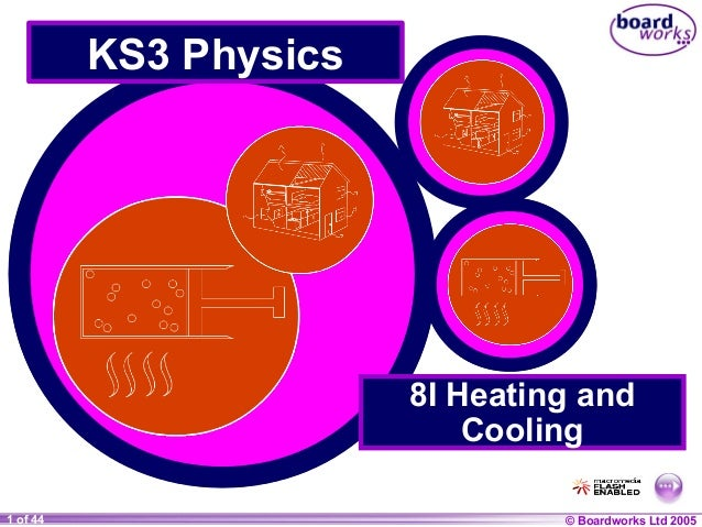 KS3 Physics  8I Heating and Cooling 1 of 44 20  © Boardworks Ltd 2004 2005
