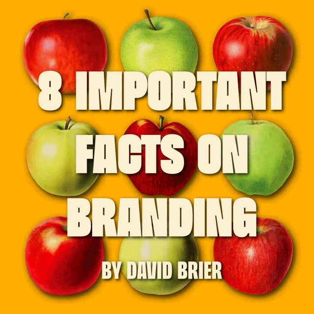 8 IMPORTANT FACTS ON BRANDING by David Brier