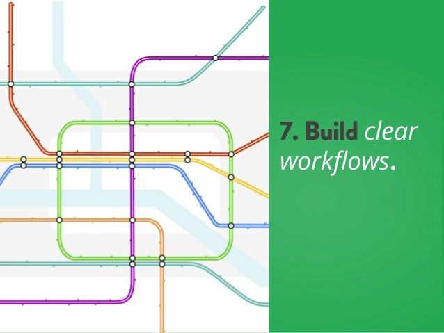 7. Build clear workflows.