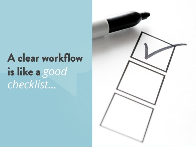 A clear workflow is like a good checklist…