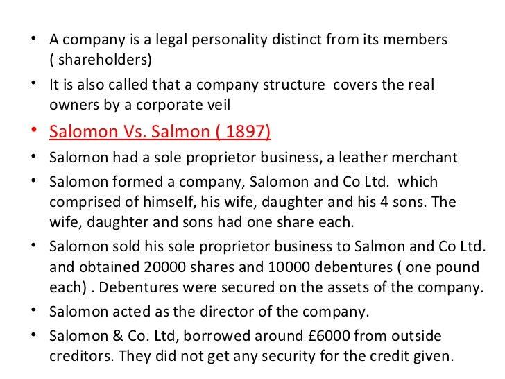 Salomon v a salomon case