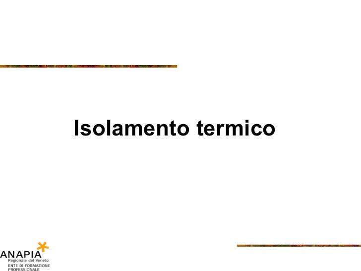 Isolamento termico