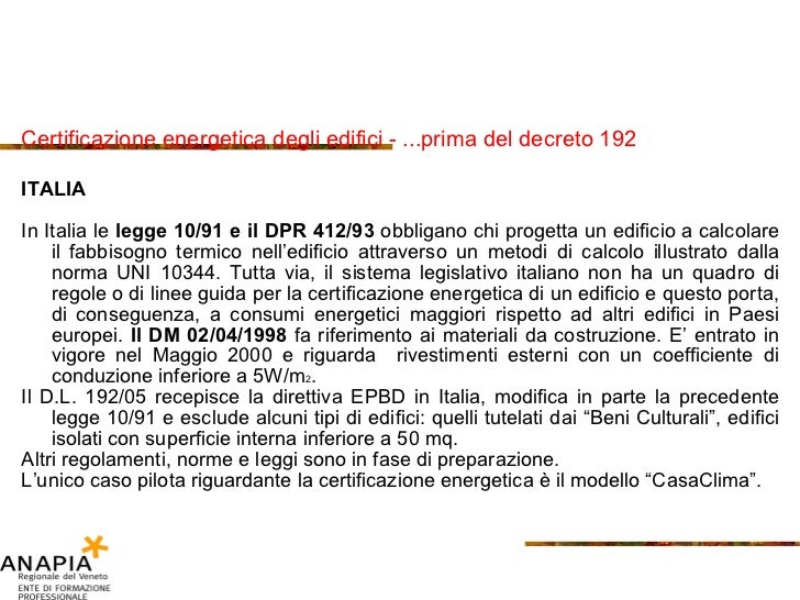 8 isolamento for Calcolo fabbisogno termico