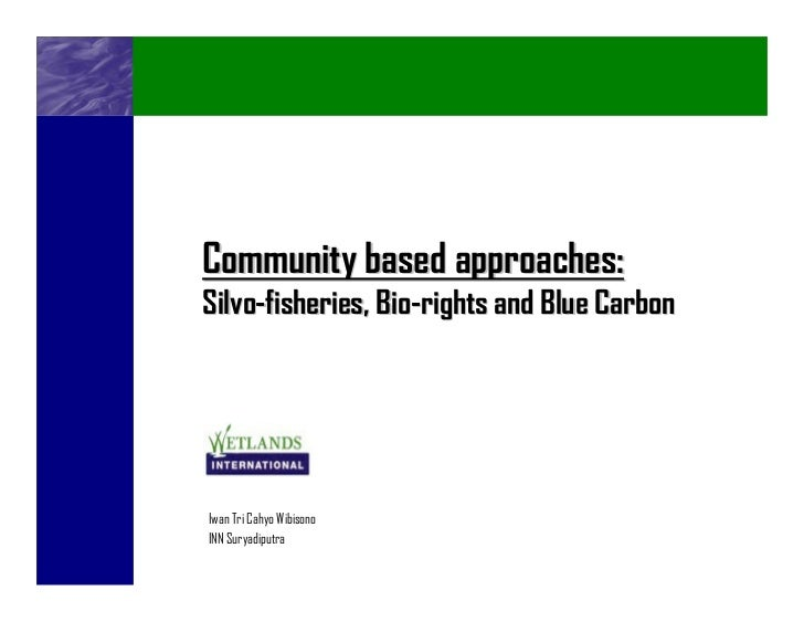 Community based approaches:Silvo-fisheries, Bio-rights and Blue CarbonIwan Tri Cahyo WibisonoINN Suryadiputra