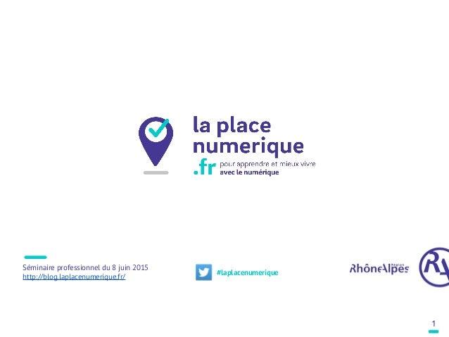 Séminaire professionnel du 8 juin 2015 http://blog.laplacenumerique.fr/ 1 #laplacenumerique