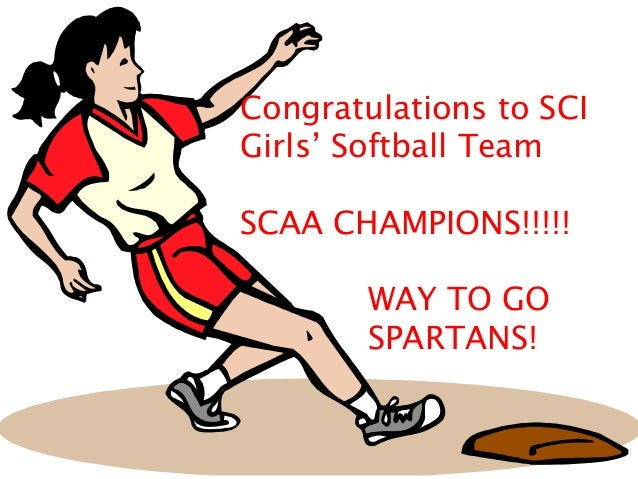 Congratulations to SCI Girls' Softball Team SCAA CHAMPIONS!!!!! WAY TO GO SPARTANS!