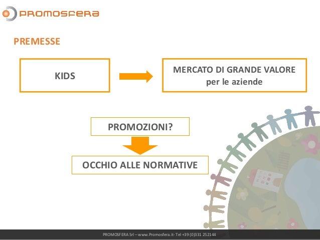 KIDS PROMOTION - ASPETTI NORMATIVI Slide 3