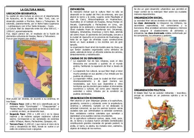 8 la cultura wari triptico Slide 2