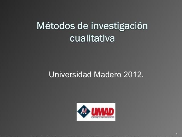 Universidad Madero 2012.                           1