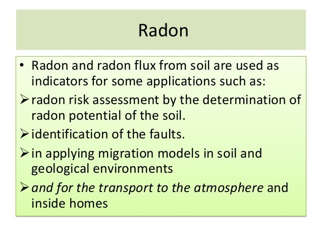 Lecture note radon in geology for Soil and geology