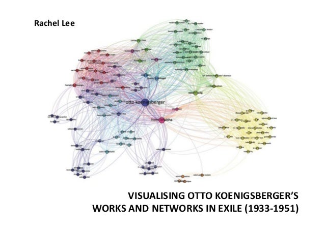 Rachel Lee  VISUALISING OTTO KOENIGSBERGER'S OTTO KOENIGSBERGER'S  WORKS AND NETWORKS IN EXILE (1933‐1951)
