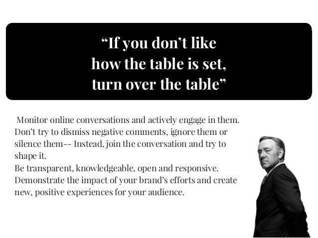 8 lessons about social media strategy from Frank Underwood