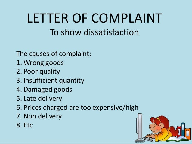 What is a complaint letter selol ink letter of complaint and adjustment spiritdancerdesigns Image collections