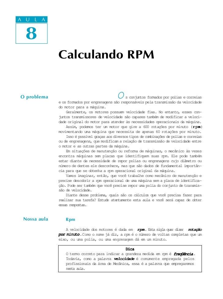A UA U L A     L A     8  8              Calculando RPMO problema                                    O     s conjuntos for...