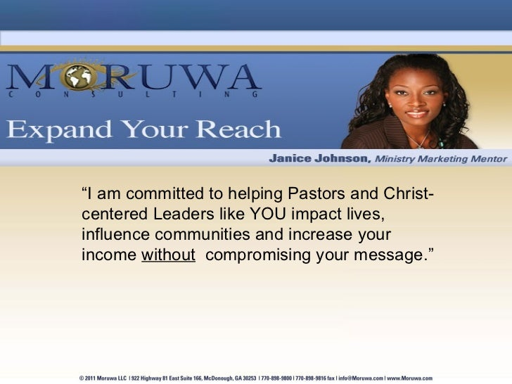 """"""" I am committed to helping Pastors and Christ-centered Leaders like YOU impact lives, influence communities and increase ..."""