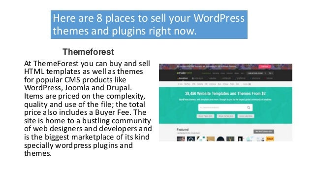 8 marketplaces where you can sell word press plugins