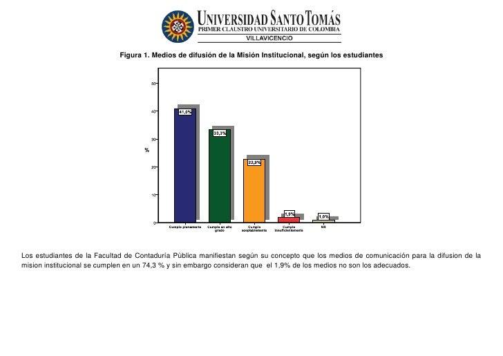 Figura 1. Medios de difusión de la Misión Institucional, según los estudiantesLos estudiantes de la Facultad de Contaduría...